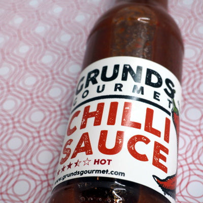 Grunds Gourmet Chilli Sauce 150ml ChilliBOM stylised Hot Sauce Club Australia Chilli Subscription Gifts