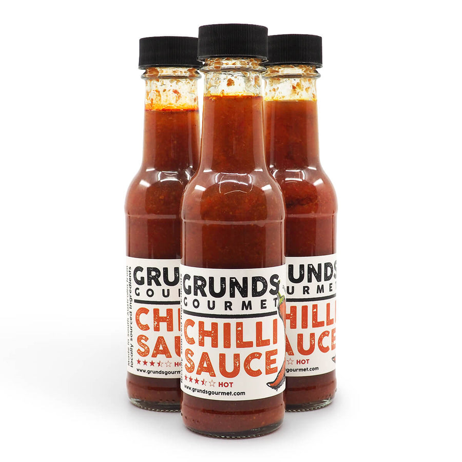 Grunds Gourmet Chilli Sauce 150ml ChilliBOM group Hot Sauce Club Australia Chilli Subscription Gifts