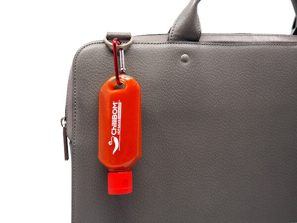 ChilliBOM Hot Sauce Traveller Club Australia Subscription Sirarcha2Go Travel bottle traveler chilli sauce refillable reusable hook