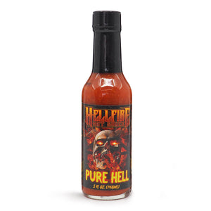 Hellfire Hot Sauce Pure Hell 148ml ChilliBOM Hot Sauce  Store Hot Sauce Club Australia Chilli Subscription Club Gifts SHU Scoville
