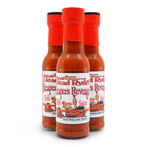 Jose Montezuma Dead Ryder's Reapers Revenge 150ml ChilliBOM Hot Sauce Store Hot Sauce Club Australia Chilli Subscription Club Gifts SHU Scoville group