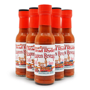 Jose Montezuma Dead Ryder's Reapers Revenge 150ml ChilliBOM Hot Sauce Store Hot Sauce Club Australia Chilli Subscription Club Gifts SHU Scoville group2
