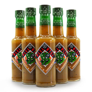 Kaitaia Fire Waha Wera Kiwifruit and Habanero Hot Sauce 150ml group2 ChilliBOM Hot Sauce Club Australia Chilli Subscription Gifts SHU Scoville