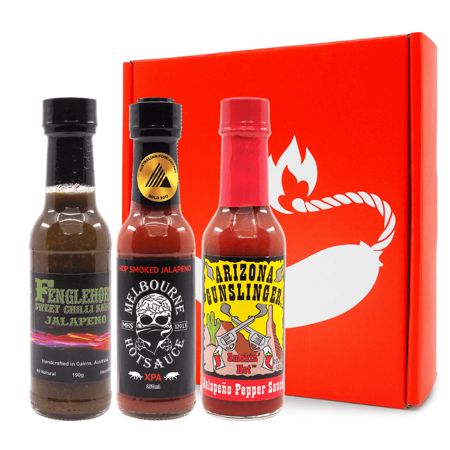 Mild & Breezy Gift Pack ChilliBOM Hot Sauce Club Australia Chilli Subscription Gifts SHU Scoville
