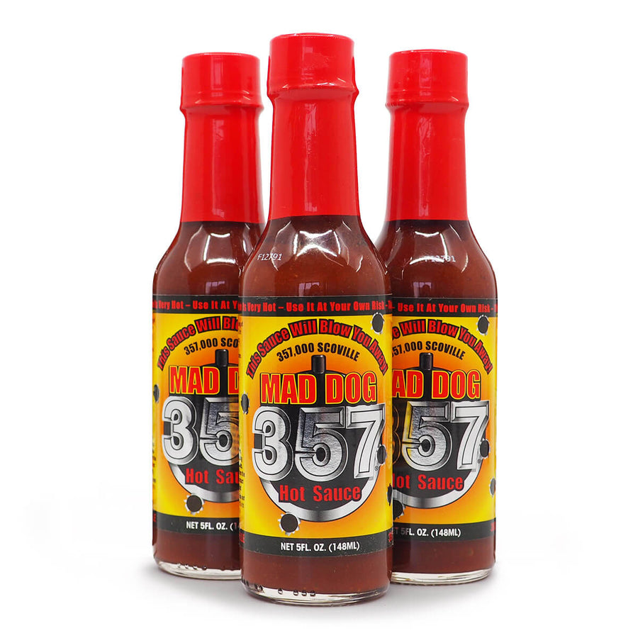 Mad Dog 357 Hot Sauce 148ml ChilliBOM Hot Sauce Store Hot Sauce Club Australia Chilli Subscription Club Gifts SHU Scoville group