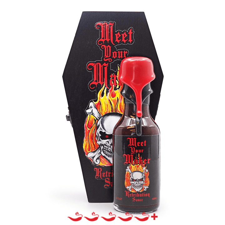 Meet Your Maker Retribution Sauce 60ml ChilliBOM Hot Sauce Store Hot Sauce Club Australia Chilli Sauce Subscription Club Gifts SHU Scoville
