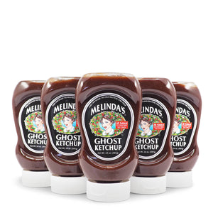 Melinda's Ghost Ketchup 397g ChilliBOM Hot Sauce Club Australia Chilli Subscription Gifts SHU Scoville squeeze group2