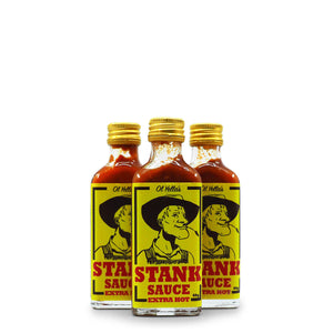 Ol Yella's Extra Stinkin Hot Sauce 60g group ChilliBOM Hot Sauce Club Australia Chilli Subscription Gifts SHU Scoville
