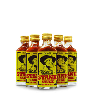 Ol Yella's Extra Stinkin Hot Sauce 60g group2 ChilliBOM Hot Sauce Club Australia Chilli Subscription Gifts SHU Scoville