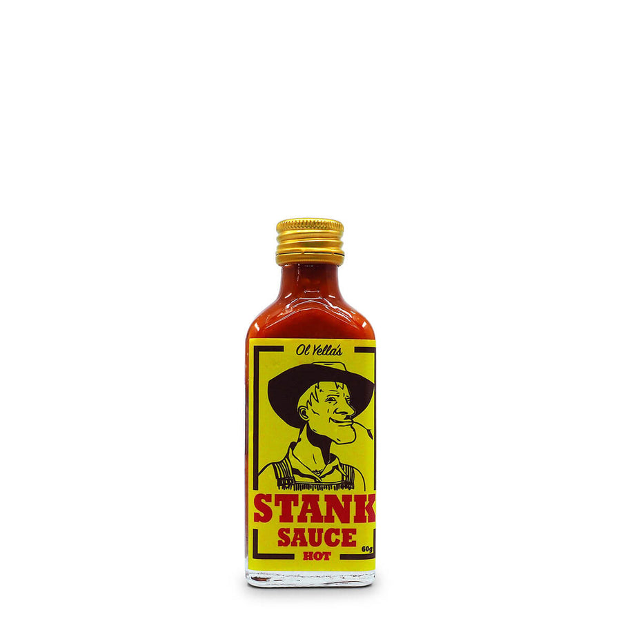 Ol Yella's Stank Sauce HOT 60g ChilliBOM Hot Sauce Club Australia Chilli Subscription Gifts SHU Scoville