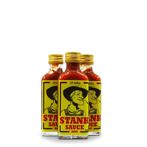 Ol Yella's Stank Sauce HOT 60g group ChilliBOM Hot Sauce Club Australia Chilli Subscription Gifts SHU Scoville