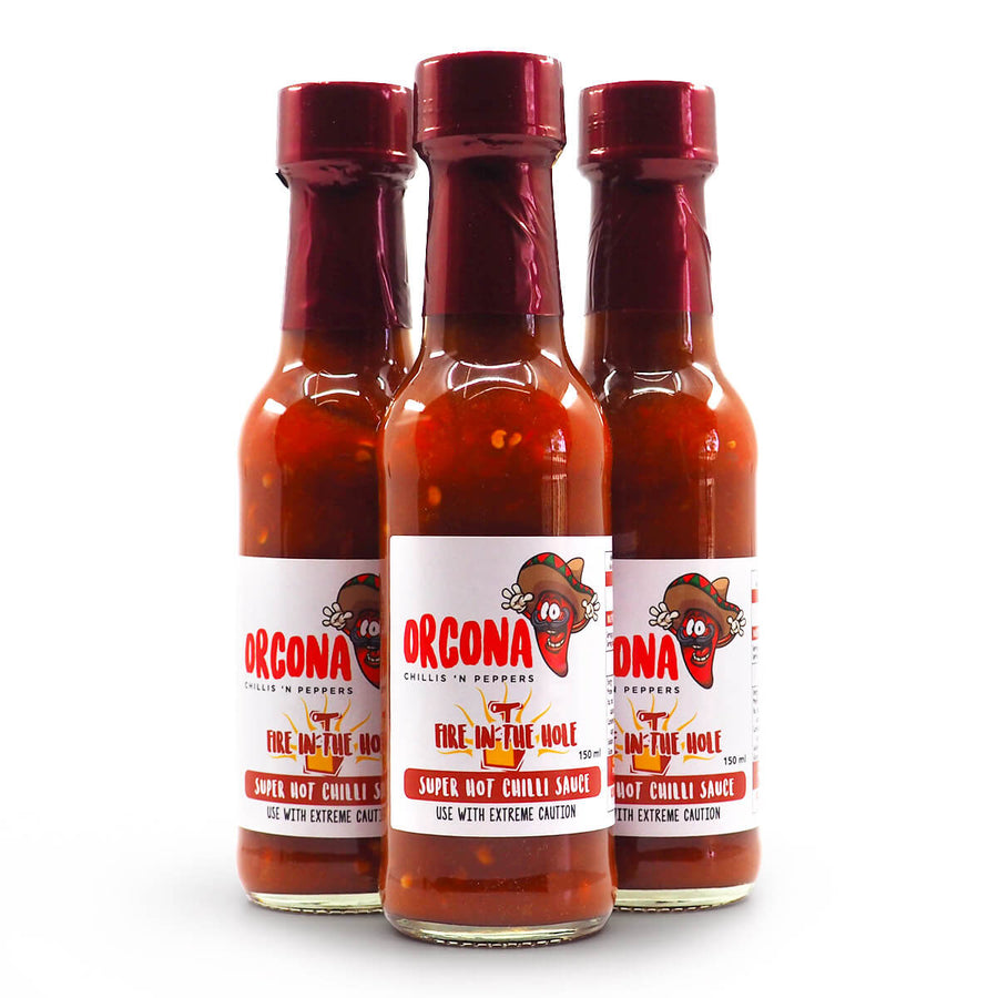 Orcona Fire in the Hole Hot Sauce 150ml group ChilliBOM Hot Sauce Club Australia Chilli Subscription Gifts SHU Scoville