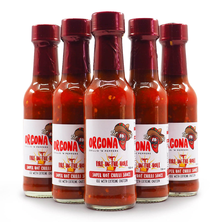Orcona Fire in the Hole Hot Sauce 150ml group2 ChilliBOM Hot Sauce Club Australia Chilli Subscription Gifts SHU Scoville