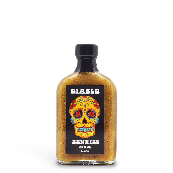 Diablo Sunrise Verde 170ml ChilliBOM Hot Sauce Club Australia Chilli Subscription Gifts SHU Scoville