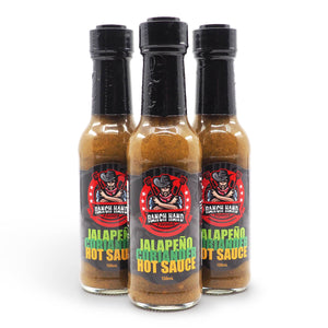 Ranch Hand Foods Jalapeño Coriander Hot Sauce 150ml group ChilliBOM Hot Sauce Club Australia Chilli Subscription Gifts