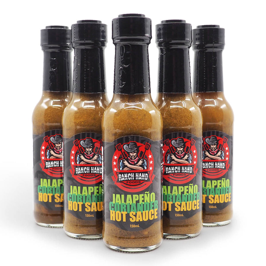 Ranch Hand Foods Jalapeño Coriander Hot Sauce 150ml group2 ChilliBOM Hot Sauce Club Australia Chilli Subscription Gifts