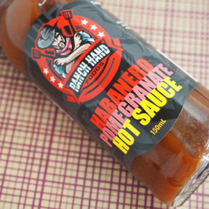 Ranch Hand Foods Habanero Pomegranate Hot Sauce 150ml stylised ChilliBOM Hot Sauce Club Australia Chilli Subscription Gifts
