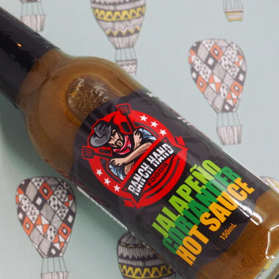 Ranch Hand Foods Jalapeño Coriander Hot Sauce 150ml stylised ChilliBOM Hot Sauce Club Australia Chilli Subscription Gifts