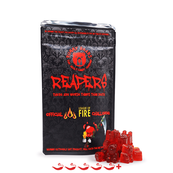 Rummy Bears Reapers Gummy Bears ChilliBOM Hot Sauce Store Hot Sauce Club Australia Chilli Sauce Subscription Club Gifts SHU Scoville league of fire