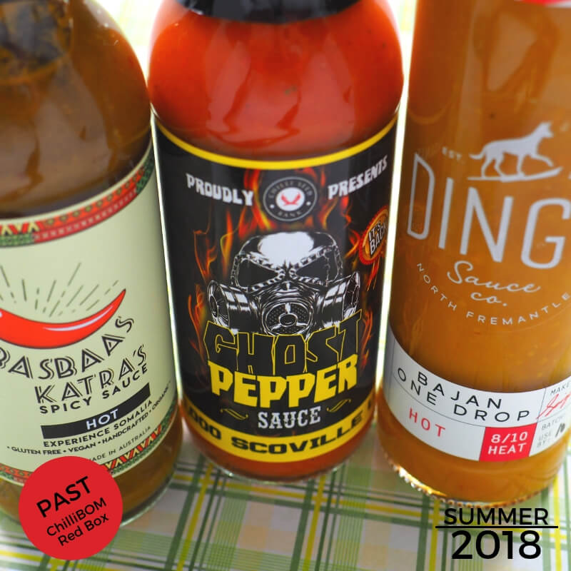 Spring 2018 ChilliBOM Red Box Subscription Hot Sauce Australia Scoville scale chillibomb