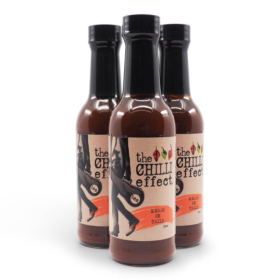 The Chilli Effect Heads or Tails BBQ Sauce 250ml group ChilliBOM Hot Sauce Club Australia Chilli Subscription Gifts