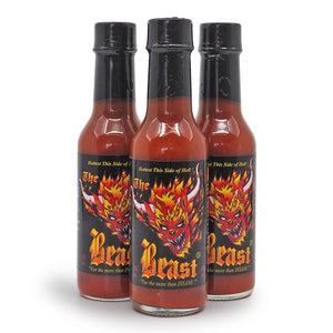 The Beast Hot Sauce 148ml ChilliBOM Hot Sauce  Store Hot Sauce Club Australia Chilli Subscription Club Gifts SHU Scoville group