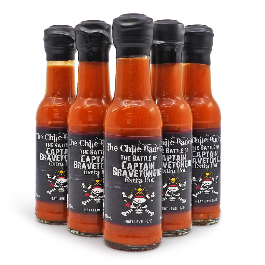 The Chile Banditos The Battle of Captain Bravetongue Hot Sauce 150ml ChilliBOM Hot Sauce Store Hot Sauce Club Australia Chilli Sauce Subscription Club Gifts SHU Scoville group2