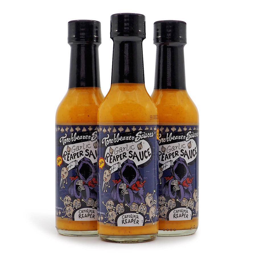 Torchbearer Garlic Reaper Hot Sauce 142g ChilliBOM Hot Sauce Store Hot Sauce Club Australia Chilli Subscription Club Gifts SHU Scoville hot ones group