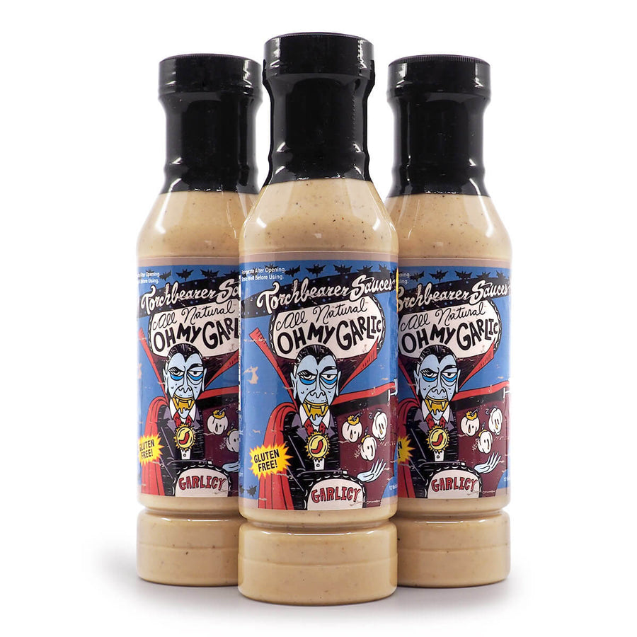 Torchbearer Sauces Oh My Garlic 340g ChilliBOM Hot Sauce  Store Hot Sauce Club Australia Chilli Subscription Club Gifts SHU Scoville group