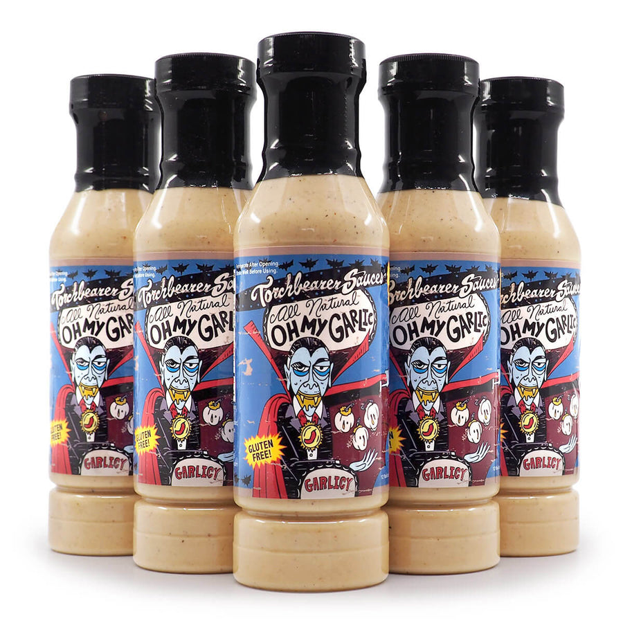 Torchbearer Sauces Oh My Garlic 340g ChilliBOM Hot Sauce  Store Hot Sauce Club Australia Chilli Subscription Club Gifts SHU Scoville group2