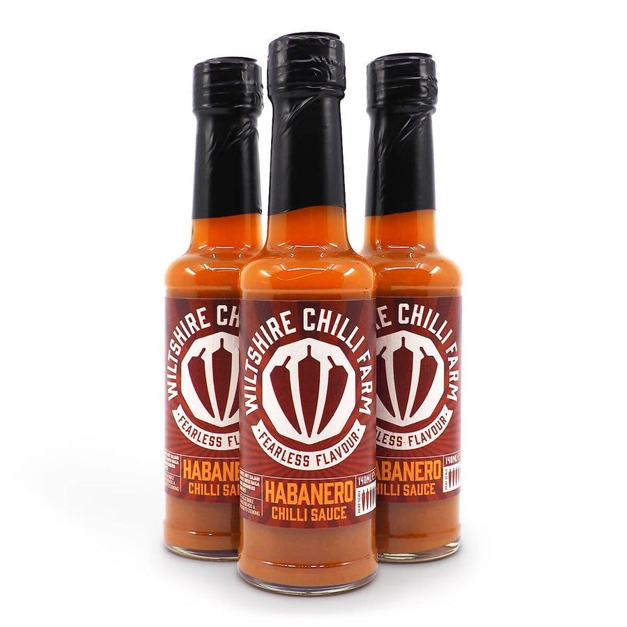 Wiltshire Chilli Farm Habanero Chilli Sauce 140ml ChilliBOM Hot Sauce Club Australia Chilli Subscription Gifts SHU Scoville group