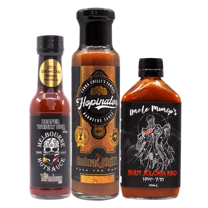 Aussie BBQ Hot Sauce Bundle ChilliBOM Hot Sauce store Australia scoville bbq barbecue Cobra Chilli Melbourne Hot Sauce Uncle Mungo's