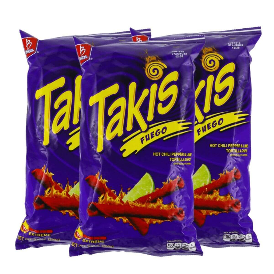 Barcel Takis Fuego Hot Chilli Pepper & Lime Tortilla Chips ChilliBOM Hot Sauce Store Hot Sauce Club Australia Chilli Sauce Subscription Club Gifts SHU Scoville group