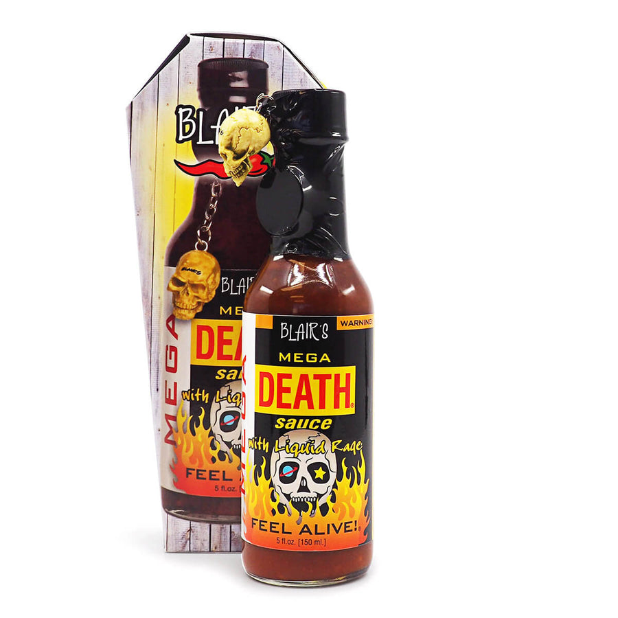 Blair's Mega Death Hot Sauce 148ml ChilliBOM Hot Sauce Store Hot Sauce Club Australia Chilli Sauce Subscription Club Gifts SHU Scoville box