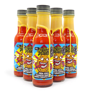 Chilli Cartel Pina Loca Fermented Habanero + Charred Pineapple Hot Sauce 150ml ChilliBOM Hot Sauce Store Hot Sauce Club Australia Chilli Sauce Subscription Club Gifts SHU Scoville saucemania