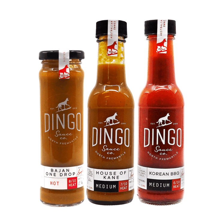 Aussie BBQ Hot Sauce Bundle ChilliBOM Hot Sauce store Australia scoville bbq barbecue Dingo hot sauce Australia mojo