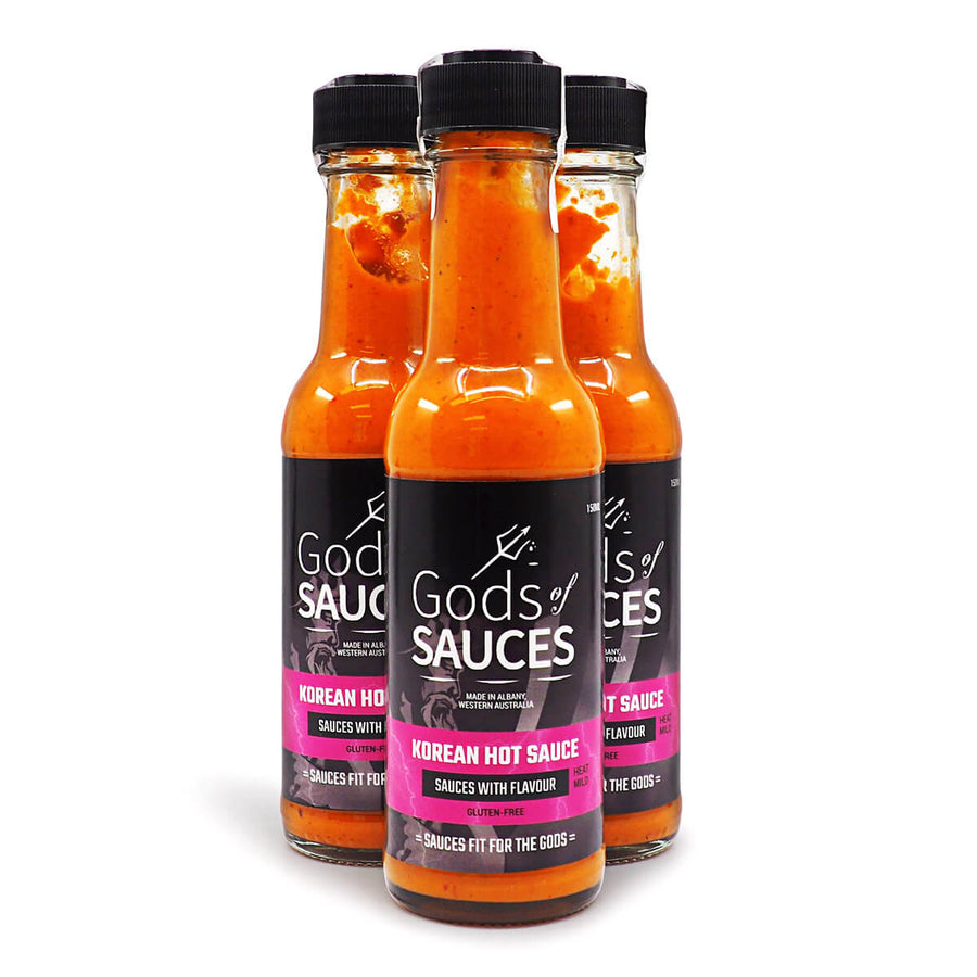 Gods of Sauces Korean Sauce 150ml ChilliBOM Hot Sauce Store Hot Sauce Club Australia Chilli Sauce Subscription Club Gifts SHU Scoville group