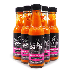 Gods of Sauces Korean Sauce 150ml ChilliBOM Hot Sauce Store Hot Sauce Club Australia Chilli Sauce Subscription Club Gifts SHU Scoville group3