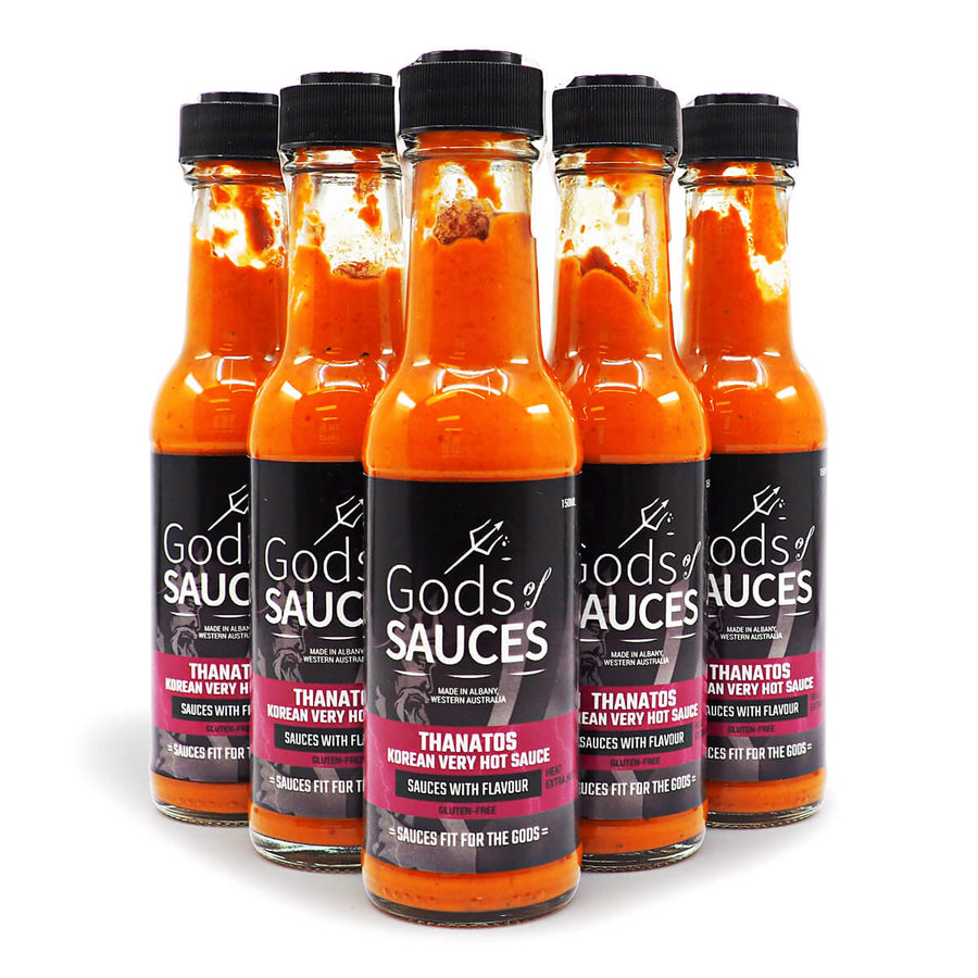 Gods of Sauces Thanatos Extra Hot Korean Sauce 150ml ChilliBOM Hot Sauce Store Hot Sauce Club Australia Chilli Sauce Subscription Club Gifts SHU Scoville group2