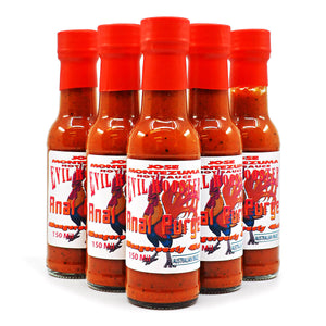 Jose Montezuma's Evil Rooster Anal Purge 150ml ChilliBOM Hot Sauce Store Hot Sauce Club Australia Chilli Sauce Subscription Club Gifts SHU Scoville group2