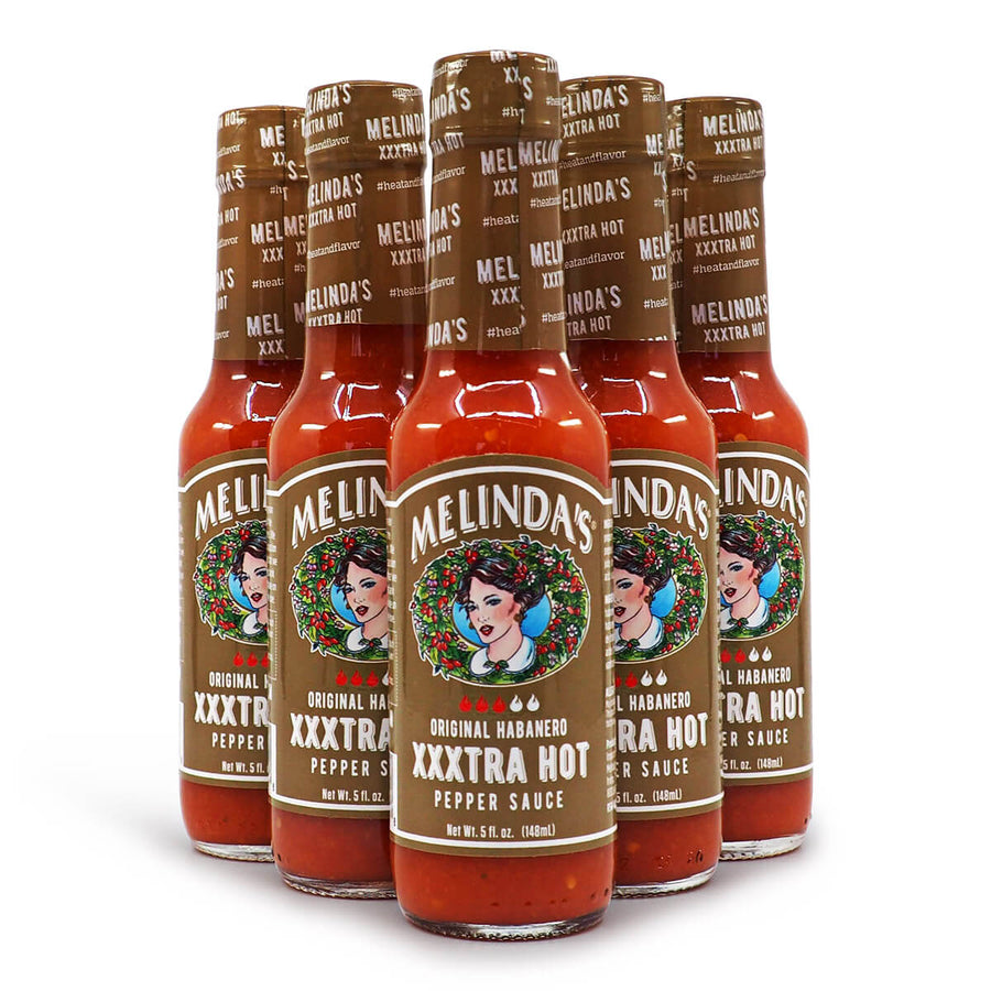 Melinda's Original Habanero XXXtra Hot Pepper Sauce 148ml ChilliBOM Hot Sauce Store Hot Sauce Club Australia Chilli Sauce Subscription Club Gifts SHU Scoville group