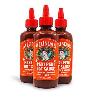 Melinda's Peri Peri Hot Sauce 355ml ChilliBOM Hot Sauce Store Hot Sauce Club Australia Chilli Sauce Subscription Club Gifts SHU Scoville group