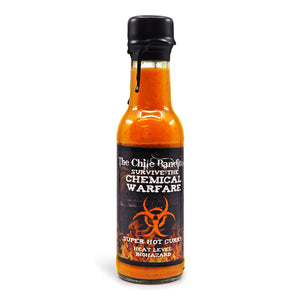 The Chile Banditos Survive The Chemical Warfare 150ml ChilliBOM Hot Sauce Store Hot Sauce Club Australia Chilli Sauce Subscription Club Gifts SHU Scoville