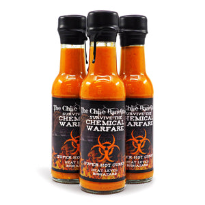 The Chile Banditos Survive The Chemical Warfare 150ml ChilliBOM Hot Sauce Store Hot Sauce Club Australia Chilli Sauce Subscription Club Gifts SHU Scoville 7million extract SHU