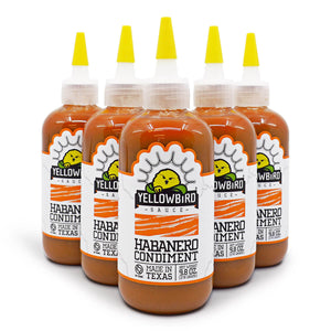 Yellowbird Habanero Condiment 218g ChilliBOM Hot Sauce Store Hot Sauce Club Australia Chilli Sauce Subscription Club Gifts SHU Scoville saucemania