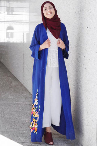 What to Wear Under an Abaya Blue Open Outfits