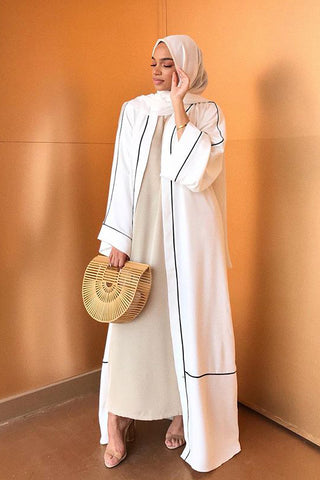 What to Wear Under a White Open Abaya