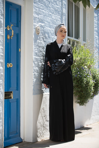 Best Abaya For Wedding UK with Colourful Sequins
