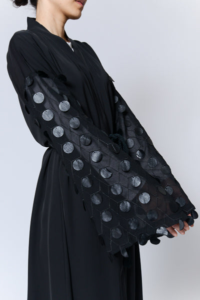 Modest Dressing Black Abaya See Through Sleeves