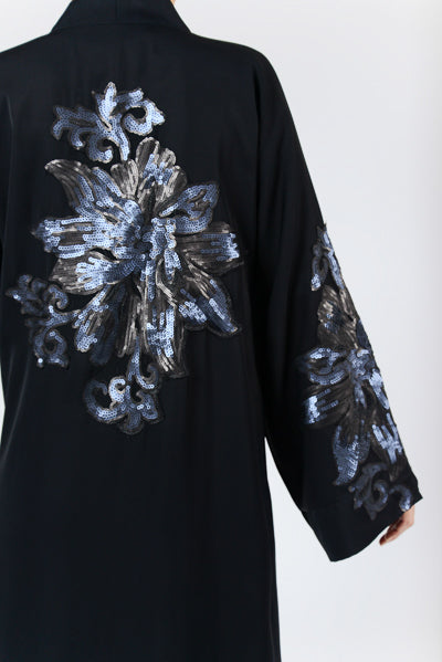 Plus Size Modest Clothing Black Sequins